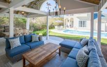 A 30A vacation rental with an outdoor seating area